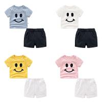 男童夏装短裤子套装婴儿短袖t恤1岁6个月7宝宝衣服