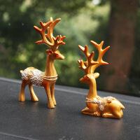 汽车用品摆件车载香薰车内创意一路平安鹿装饰品可爱盆栽
