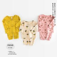 AB29006-春款新品男女童宝宝纯棉可爱内衣套装全棉家居服