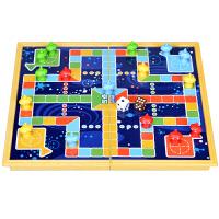 折叠式磁性 飞行棋 折合塑料 盘折盒棋盘