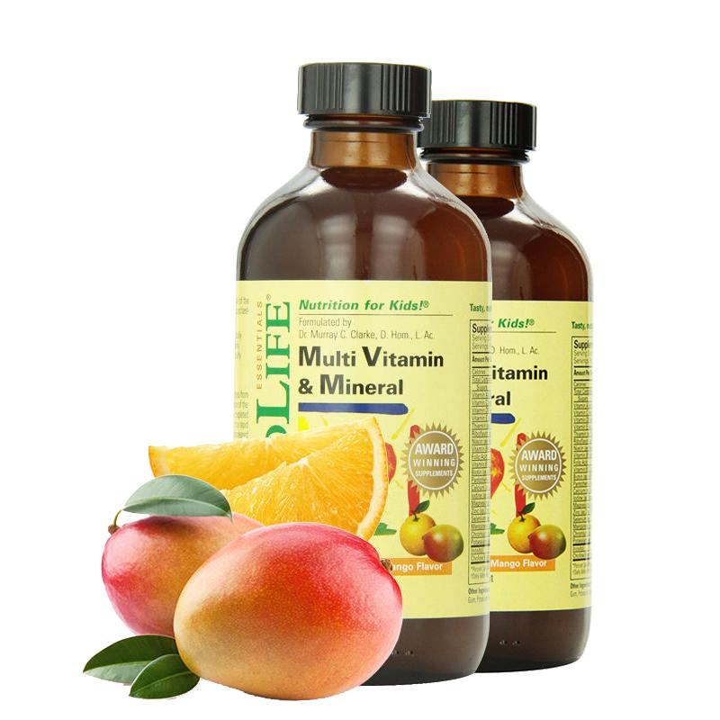 【2瓶】美国直邮 Childlife/童年时光 儿童复合维生素营养液 8 fl.oz/237ml*2  海外购
