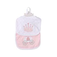 美国BabyAspen 有机棉宝宝手工刺绣围兜套装 婴儿围嘴