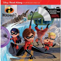 英文原版 《超人总动员2》朗读书+CD Incredibles 2 Read-Along Storybook and CD 9781368011945