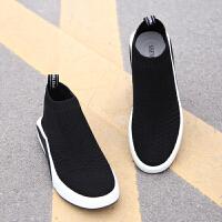 夏季新款鞋子男韩版潮流休闲运动鞋男士板鞋潮网面黑色透气网鞋男