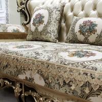 欧式皮沙发垫布艺客厅123组合套四季通用真皮防滑坐垫