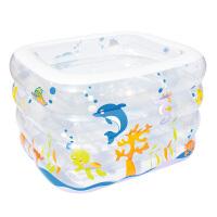婴幼儿游泳池戏水池保温充气方形泳池家庭宝宝游泳池