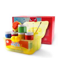 儿童可水洗宝宝绘画组合套装彩色印泥涂鸦礼物手指画颜料