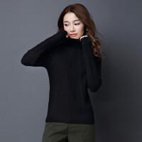 秋冬新款高领短款厚毛衣女品牌修身针织羊绒衫长袖套头羊毛打底衫