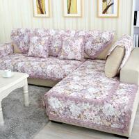 福存家居 欧式防滑亚麻沙发垫 实木真皮布艺沙发棉布坐垫 沙发套 沙发巾 飘窗垫