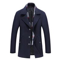羊毛呢外套秋冬季短款韩版青年中年男士妮子修身大衣呢子加厚风衣
