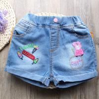 女童牛仔短裤夏季新款女宝宝卷边时尚弹力牛仔热裤