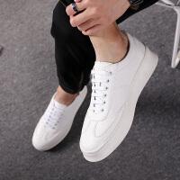 2018春季新款小白鞋男士内增高6cm休闲小皮鞋韩版白色鞋潮男 板鞋