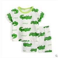 儿童睡衣套装夏季 婴儿薄款 宝宝家居服短袖女 男童夏装