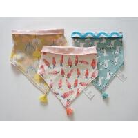 宝宝流苏三角围嘴 两面戴 婴幼儿口水巾 纯棉双层大版型