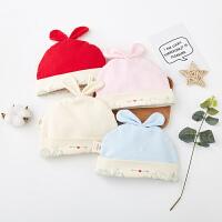 【3件3折后16.2】婴儿帽子春夏薄款纯棉初生男女宝宝帽子春秋季0-3个月新生儿胎帽