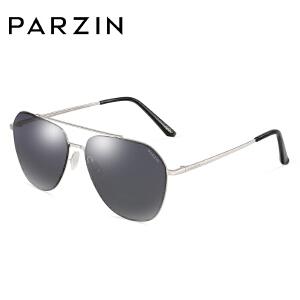 帕森2018新款尼龙偏光太阳镜女摩登时尚金属大框墨镜男驾驶镜8178