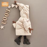 女宝宝冬装棉衣加绒内里保暖棉袄外套