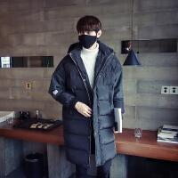 统卓冬季韩版修身男士中长款棉衣外套青年加厚棉袄上衣服男装