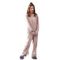 慈颜月子服春秋季款孕妇睡衣长袖产妇哺乳衣外出家居服套装FJC6202