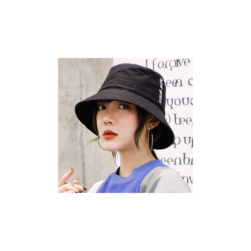 帽子女韩版潮盆帽户外出游防晒遮阳帽休闲百搭渔夫帽