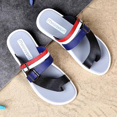2018夏季新款男士软底沙滩鞋夹趾防滑透气休闲凉拖鞋韩版潮鞋