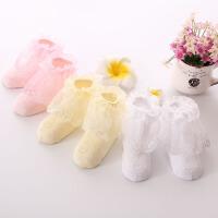热销春秋季薄款儿童花边袜子女童蕾丝袜公主纯棉短袜宝宝袜子