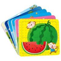 邦臣小红花动手动脑玩拼图共12张2-3岁畅销儿童书趣味拼图玩具亲子游戏书宝宝动手动脑开发智力幼儿园小班益智思维训练游戏