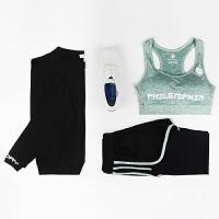 春秋冬新款瑜伽服三件套女长袖长裤女士健身跑步运动健身服套装