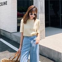 七格格很仙的雪纺衫女2019新款夏季韩版洋气chic时尚甜美短袖上衣