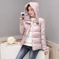 韩版棉衣女短款修身羽绒连帽大码学生小棉袄冬装外套