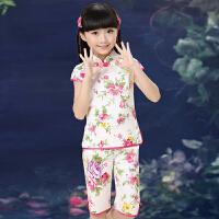 儿童唐装民族风套装中式女孩舞蹈服装少儿古装演出服