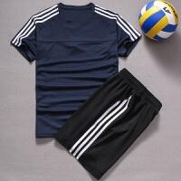 新款排球服套装男女款无袖队服透气排球衣训练比赛服短袖印号