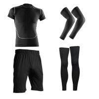打篮球装备运动护具全套护膝护腿护肘护臂健身服打底紧身长裤男生
