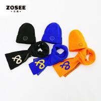 【2件5折】左西男童帽子围巾套装儿童护耳保暖一体2件套男孩冬季2020新款潮