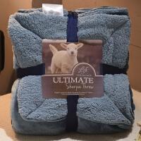 法兰绒羊羔绒珊瑚绒毯子毛毯被子加厚床单冬季保暖午睡毯J