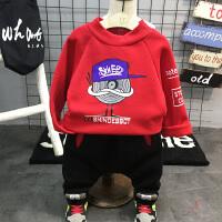 男童女童加厚打底衫 2018春装新款韩版儿童高领抓绒插肩袖潮卫衣