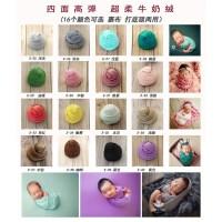 新生儿摄影道具牛奶绒裹布婴儿拍照影楼宝宝儿童服装摄影道具新款