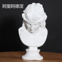 石膏头像素描几何体人物模型雕塑摆件琴女大卫维纳斯大小号美术教具静物石膏像美术用品画材