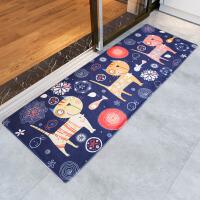 卡通猫咪地垫门口脚垫进门厅地毯门垫浴室吸水海绵垫子地板垫家用 50x80+