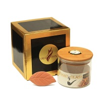 OLD FOX 玻璃保湿罐 烟斗配件咖啡豆茶叶烟丝保湿罐 烟丝密封罐