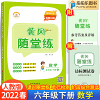黄冈随堂练六年级下册数学人教版