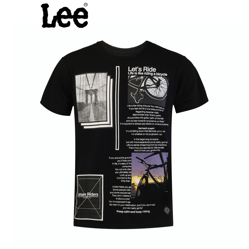 Lee 【断码】男士短袖T恤 时尚设计图案 休闲圆领 L15120866K11