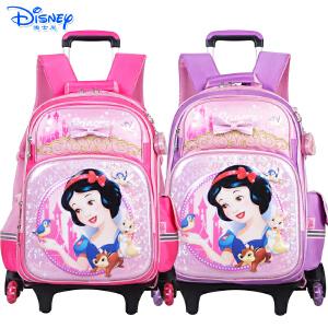 迪士尼公主儿童书包小学生1-6年级三轮可爬楼卡通拉杆书包PB0378