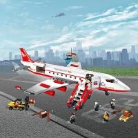 儿童积木玩具 大型客机拼装积木玩具航空飞机模型男孩儿童礼盒装生日礼物