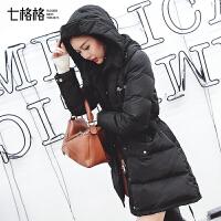 中长款羽绒服女2017新款韩版宽松时尚冬装反季百搭厚面包服外套潮