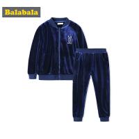 巴拉巴拉儿童套装女童秋装2018新款儿童两件套小童宝宝丝绒运动衫