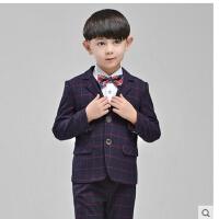 儿童西服男春夏小西装套装男童宝宝钢琴演出服英伦风花童礼服