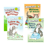 顺丰发货 I can read My First阶段 Mittens系列6本套装 Mittens Follow Me,
