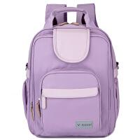 V-Coool妈咪包 商务休闲两用大容量双肩妈咪包双肩背包旅行包 典雅紫