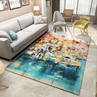 北欧地毯客厅卧室茶几垫欧式简约现代抽象沙发床边美式长方形地毯SN4135